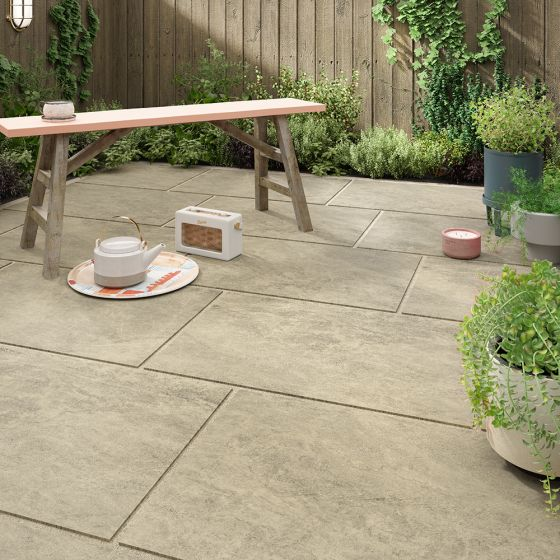 Islay Beige Matt Outdoor Porcelain Tile 600x900