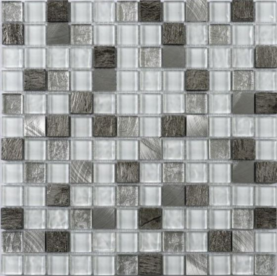 Verona Slate/Chrome Mix Mosaic