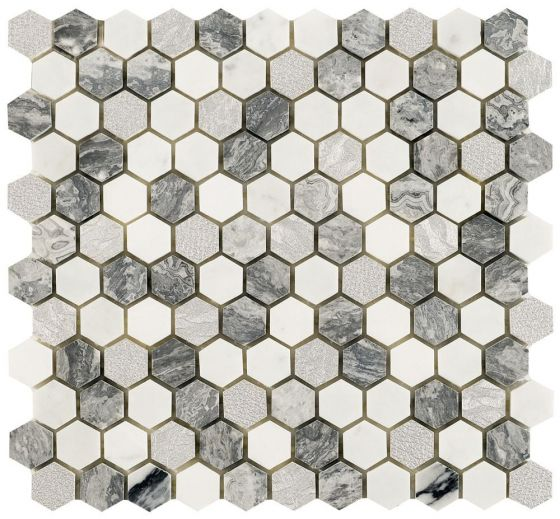 Utopia Grey White Slv Hex
