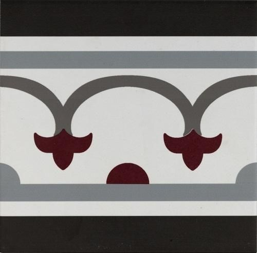 Pamplona Straight Border Black, White & Red 200x200