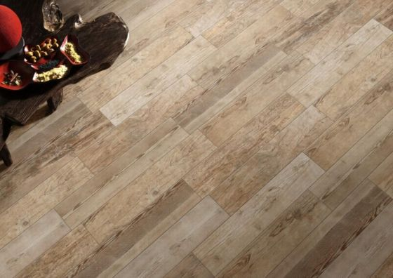 Sequoia Light Oak (Beige) Wood Effect Tile