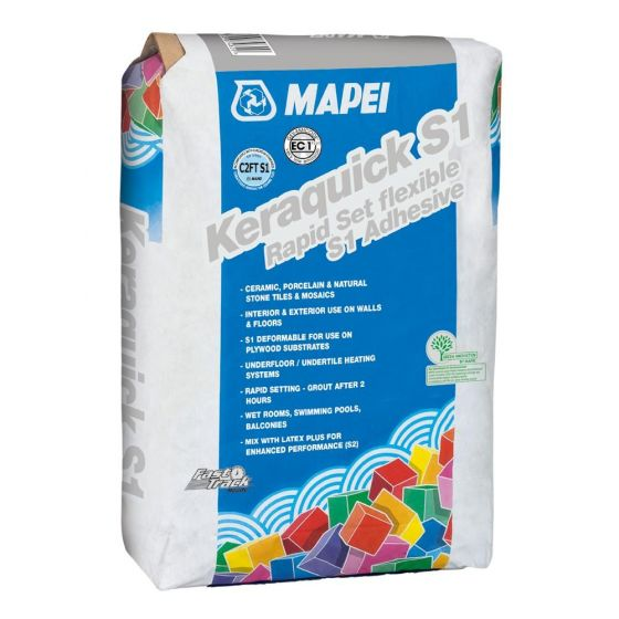 Mapei Keraquick Grey Flexible Wall & Floor Adhesive 20kg