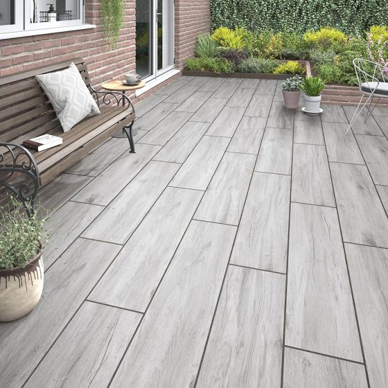 Willow Grey Matt Outdoor Porcelain Tile 300x1200