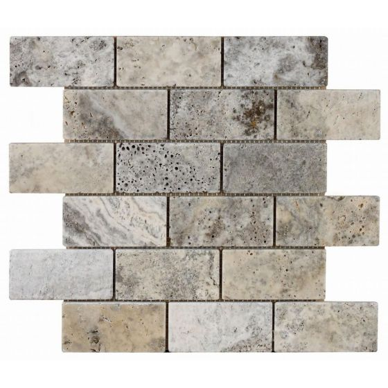 Italiana Grey Brick Mosiac 48x98mm