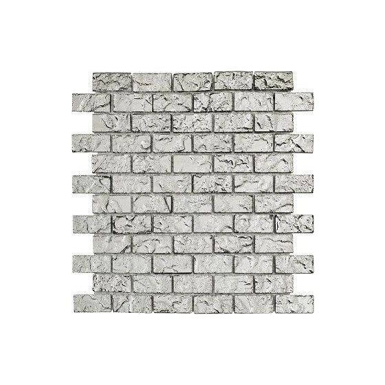 Electro Silver Brick 2.3 x 4.8 Mosaic