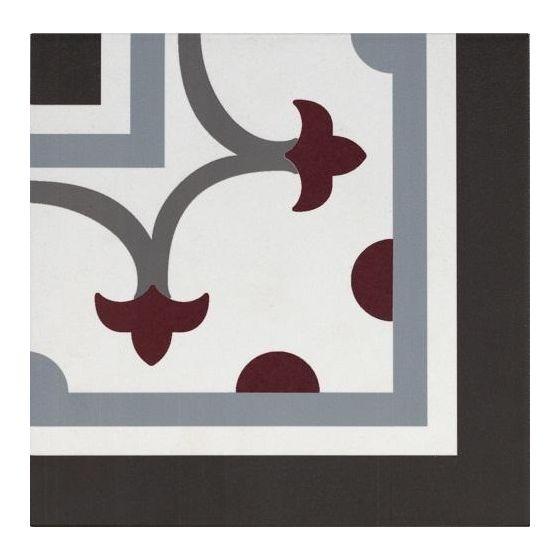 Pamplona Corner Black, White & Red 200x200