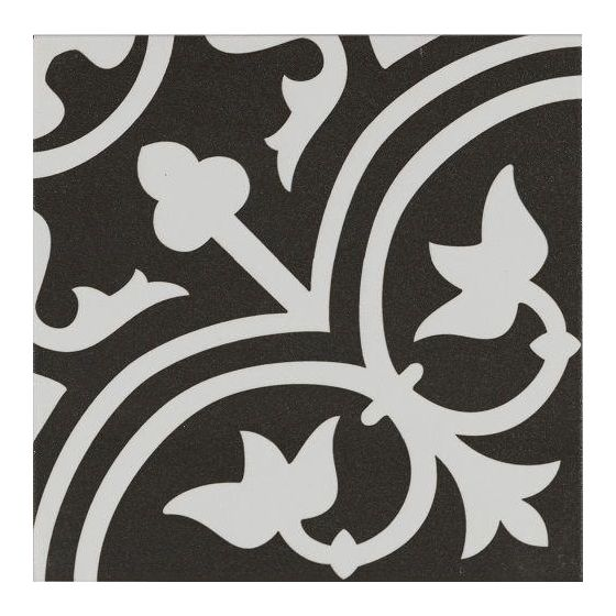 Pamplona White on Black Pattern 200x200
