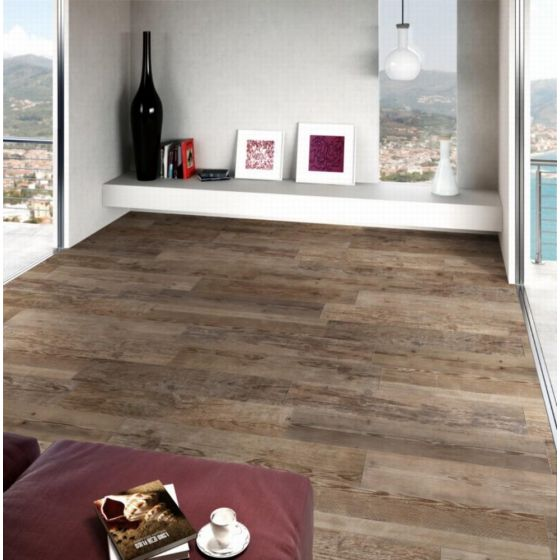 Sequoia Grip Dark Oak Wood Effect Tile