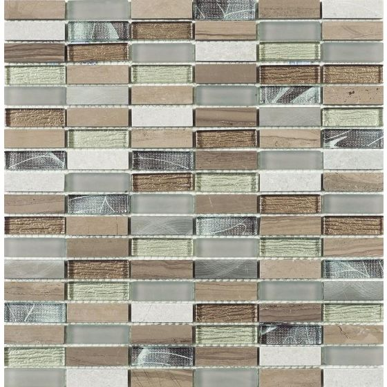 Heydon Beige Mix Stone/Glass/Metal Linear