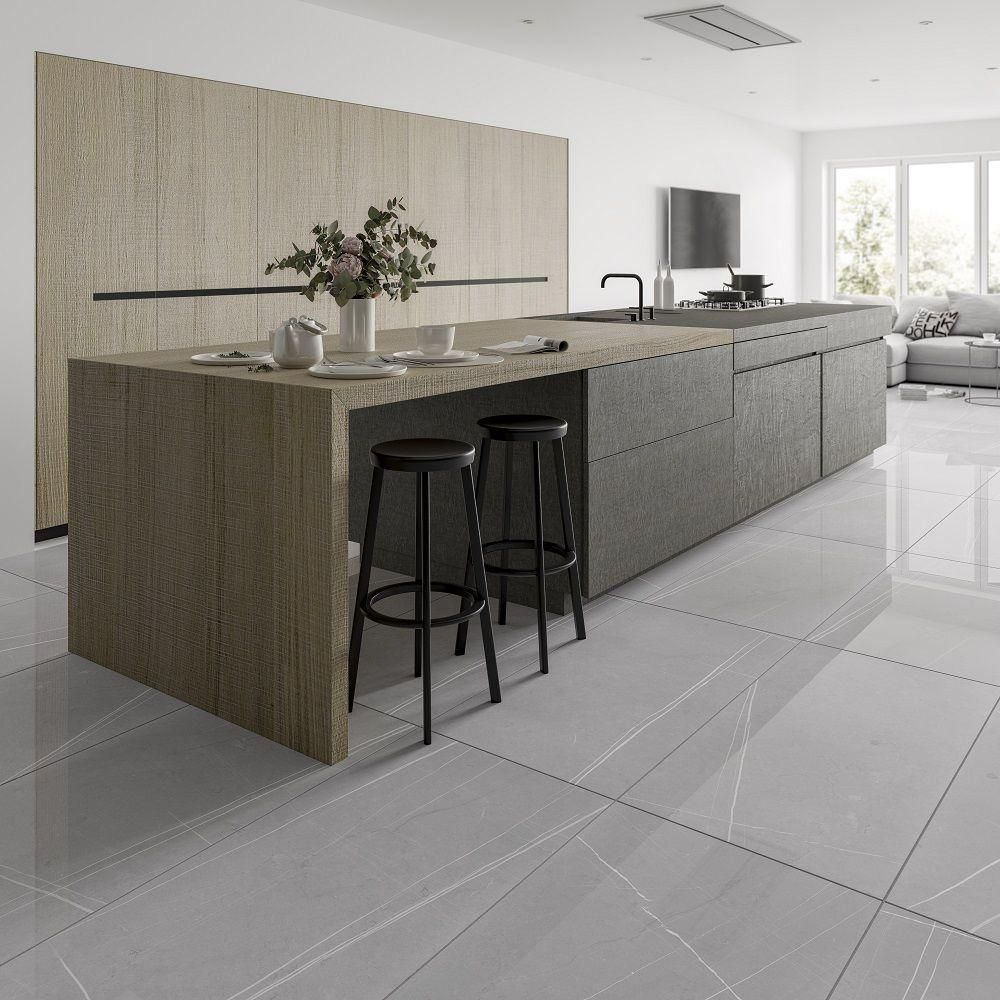 Pedra Light Grey Vein Gloss Tile Giant It is a neutral color or achromatic color. pedra light grey vein gloss