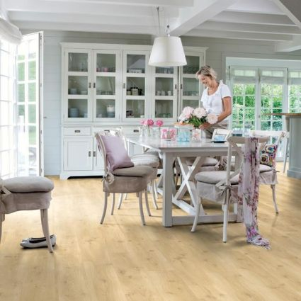 Balance Drift Oak Effect Beige Luxury Vinyl Flooring by Quick St