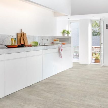 Quickstep Livyn Ambient Light Grey Travertine AMCL40047 Vinyl Fl