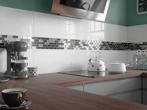 Classic Gloss Flat White Wall Tile 25x40cm