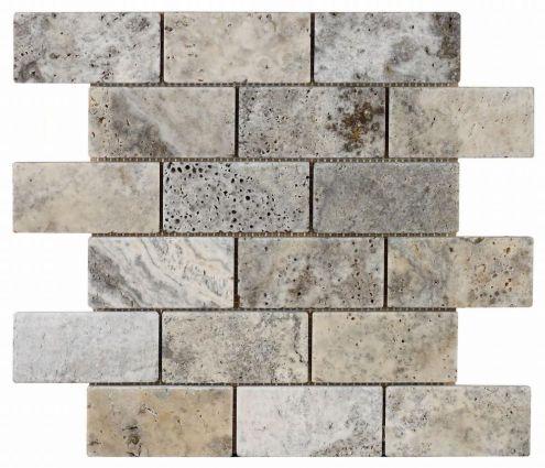 Italiana Grey Brick Mosiac 48x98mm