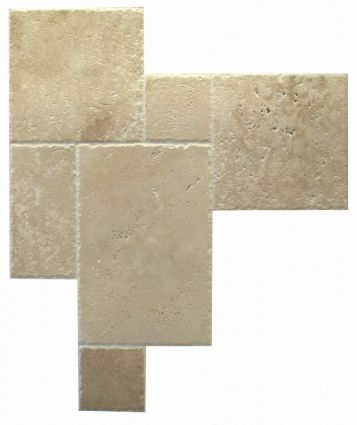 Classic Kremna (Chiselled Edge) Brushed Travertine Opus Pack (0.
