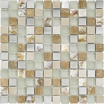 Freetown Cream Pearl Chrome 2.2 x 2.2 Mosaic