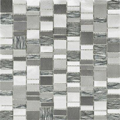 Chrome Volvic Mix Mosaic