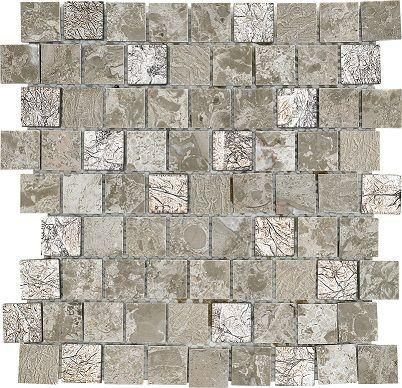 Ottawa Light Grey Stone Glass Mix 3x3 Mosaic