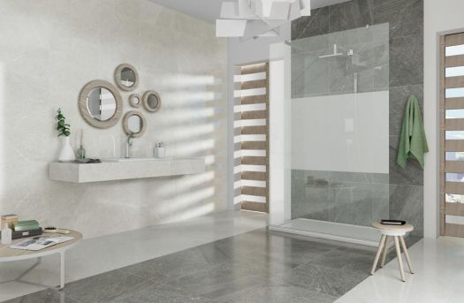Brooklyn Lux Grey Glazed Porcelain Tile 300 x 600mm
