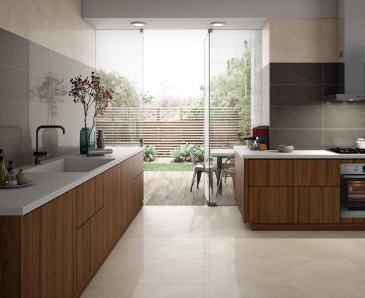 Brooklyn Lux Cream Glazed Porcelain Tile 300 x 600mm