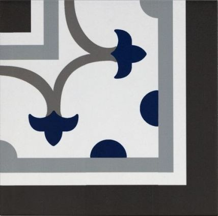 Pamplona Corner Black, White & Blue 200x200