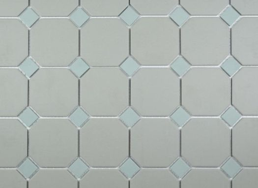 Dawn Grey Octagon with Eau de Nil Dot 296x296 Mosaic