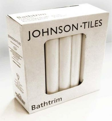 Johnsons Cristal PRG1 Ceramic Bath Seal Trim Set White Gloss