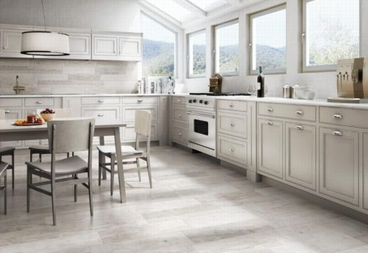 Sequoia Limed Oak (White) Wood Effect Tile