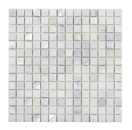 Bari White Marble & Mother of Pearl Mosaic