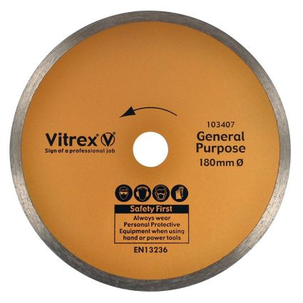 Vitrex Diamond Blade 180mm Standard