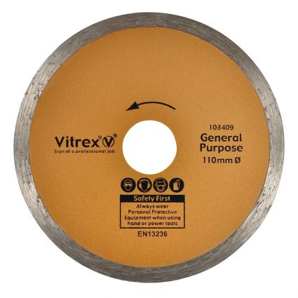 Vitrex Diamond Blade 110mm Standard