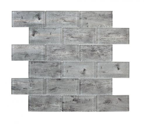 Horizon Silver Wood Effect Mosaic