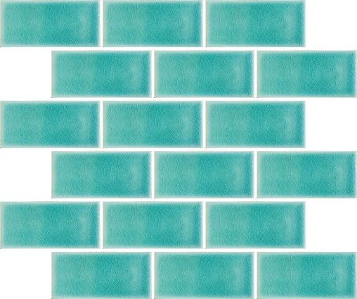 Midi Metro Crackle Teal Mosaic