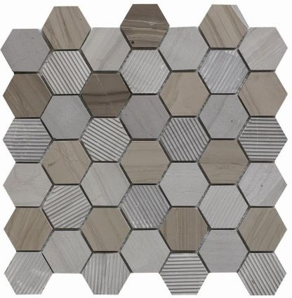 Cedar Marble Hexagon Mosaic