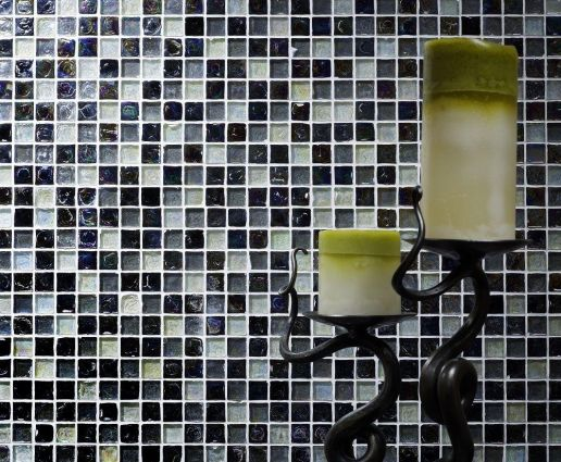 Hammered Pearl Black Mosaic