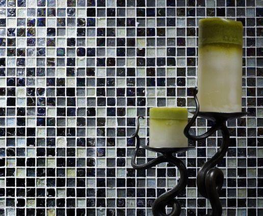 Hammered Pearl Black Mosaic
