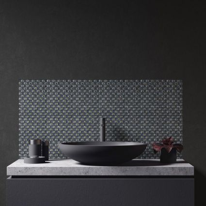 Jewel Black Mosaic