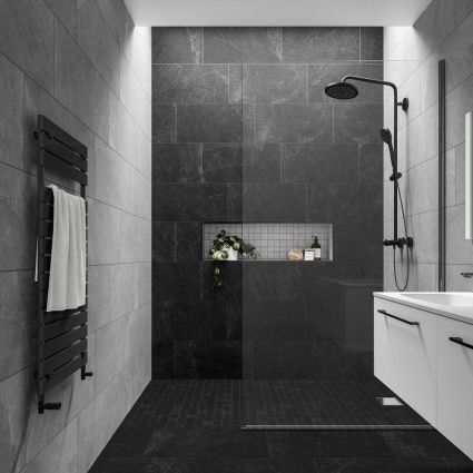 Slate Rock Black Mosaic