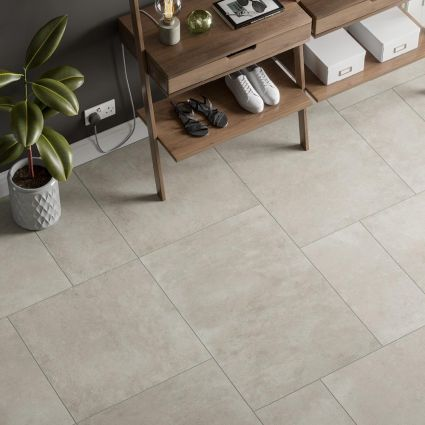 Tectonic White Porcelain Tile 600x900
