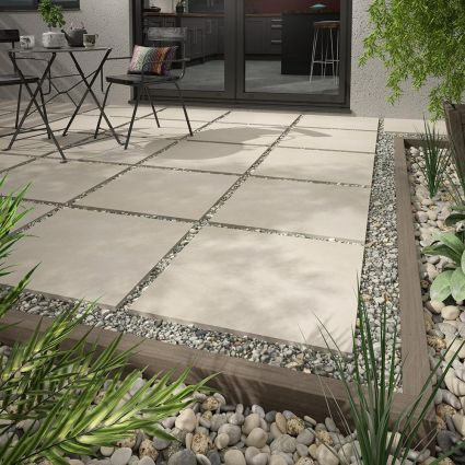Bryce Ivory Matt Outdoor Porcelain Tile 600x600