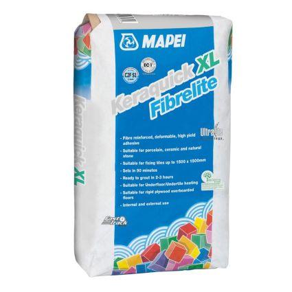 Mapei Keraquick XL Fibrelite Grey Wall/Floor Tile Adhesive 15kg