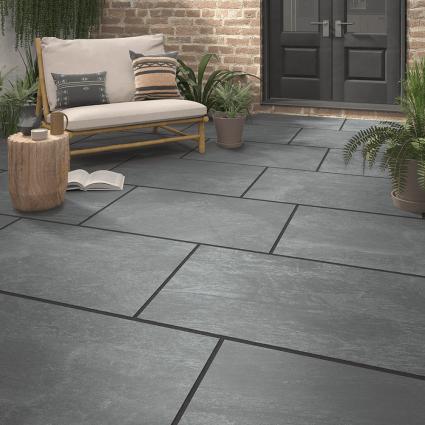 Andesite Grey Matt Outdoor Porcelain Tile 600x900