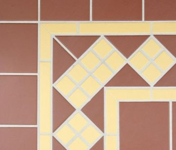 Clifton Corner Red and Mustard 216x216