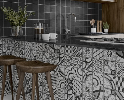 Cementum bathroom wall tile