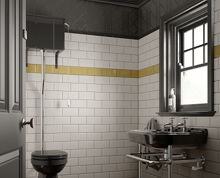 Deep metro bathroom wall tile