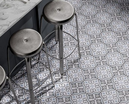 Ornamental Patterned Floor Tile