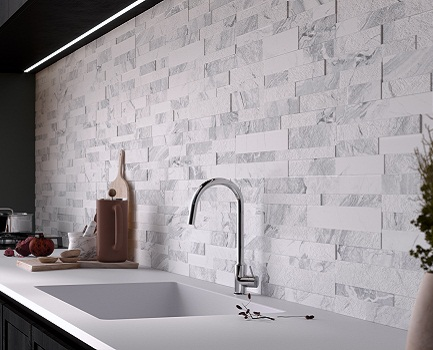 Home Architec Ideas White Kitchen Wall Tiles Design