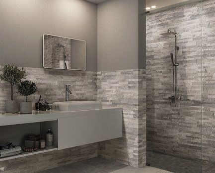 Pollino slate effect bathroom wall tile