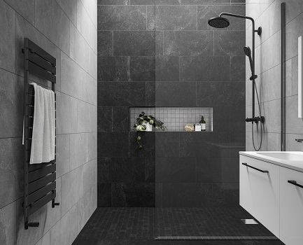 Slate Rock Bathroom Wall Tile