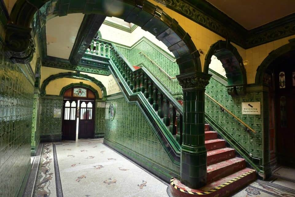 Victoria Baths Interior Stairway | Tilegiant.co.uk